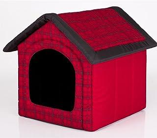 Caseta para perros prompter HobbyDog perros cueva perros casa rojo con rejilla tamaño L