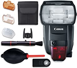 Canon Speedlite 600EX II-RT Flash with Cleaning Pen + Dust Blower + Remote Control
