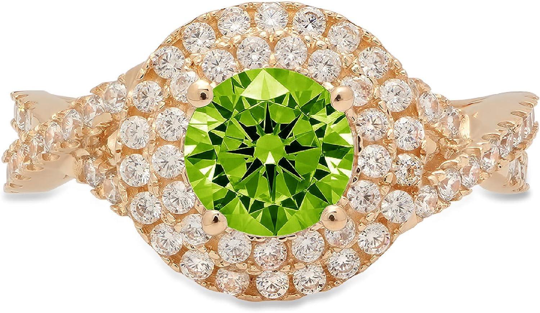1.34ct Round supreme Cut Solitaire double Natural Designer Baltimore Mall Genuine halo