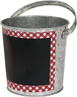 amscan Picnic Party Chalkboard Bucket, 4.75