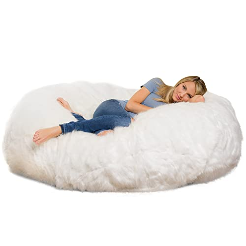 Marvelous Fuzzy Bean Bag Chair Amazon Com Creativecarmelina Interior Chair Design Creativecarmelinacom