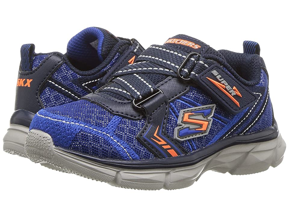 SKECHERS KIDS Advance Super Z Sneaker (Toddler) (Blue/Navy) Boy
