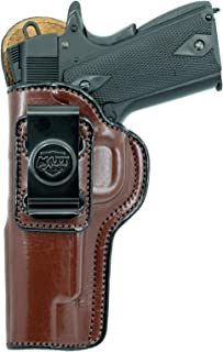 Maxx Carry Inside The Waistband Leather Holster for Kimber Ultra Carry II. IWB Holster with Clip Conceal Carry.