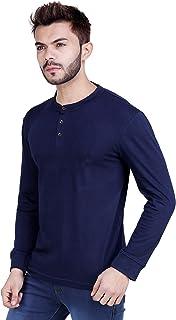 RSO Outfits Men's Cotton Full Sleeves Plain henley T-Shirt