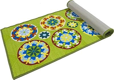 ABC Tappeti Carpet Murrine Green/Multicolor 57 x 180 cm