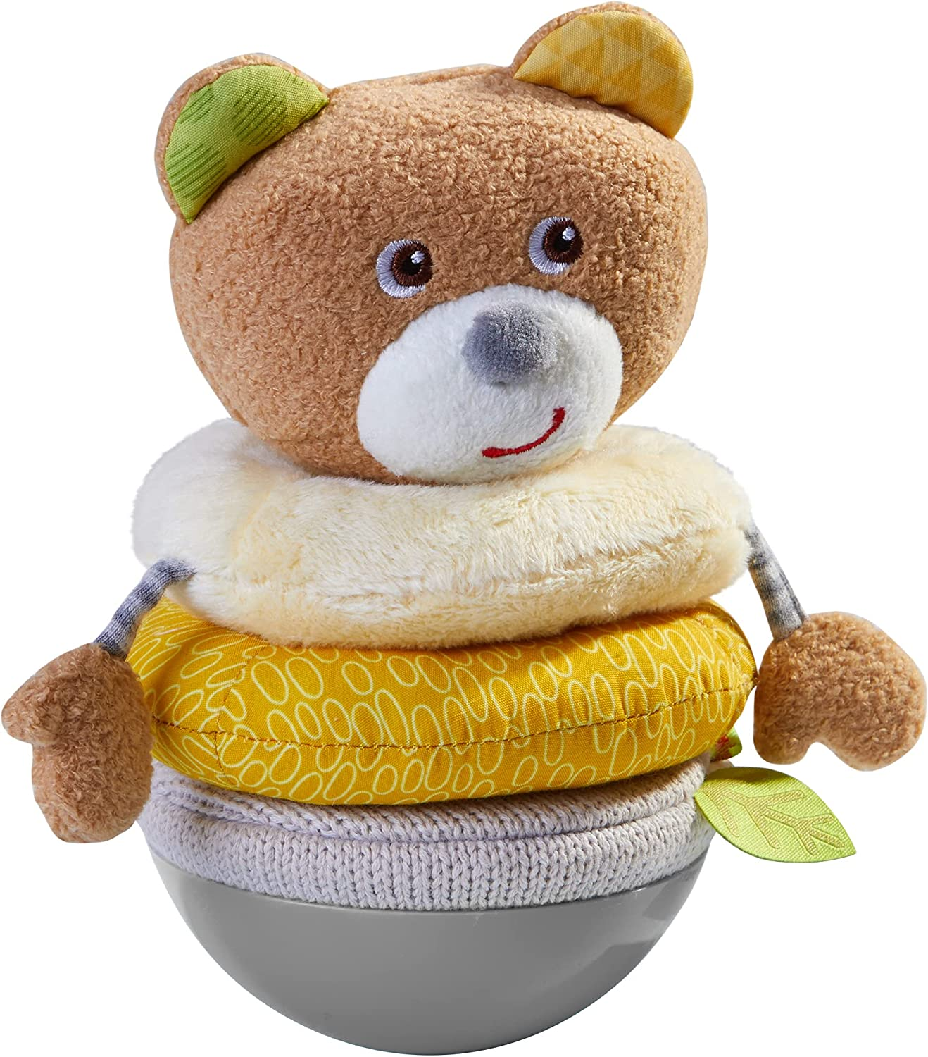 HABA Roly Poly Bear Soft Wobbling & Chiming Baby Toy