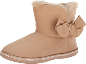 Skechers Women's Cozy Campfire-Microfiber Slipper Boot with Bow