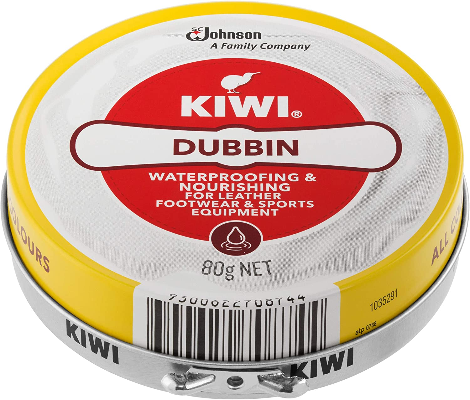 KIWI Dubbin Waterproofing and Nourishing Leather Protector for Footwear and Sports Equipment, Neutral, 80g