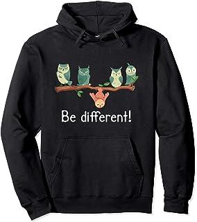 Be different - Chouettes hiboux Hibou des marais Sweat à Capuche