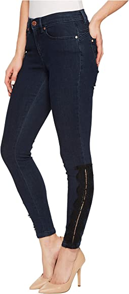 Ivanka Trump - Denim Lace Trim Pants in Authentic