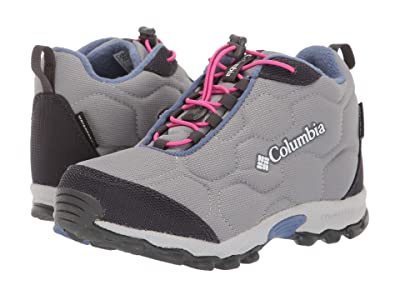 Columbia Kids Firecamptm Mid 2 Waterproof (Little Kid/Big Kid) (Monument/Bluebell) Girls Shoes
