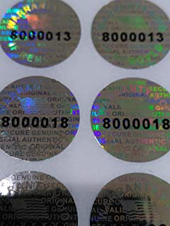Round Pair Serial 14 MM Tamper EVIDENT Security Void Hologram Labels Seals (100)