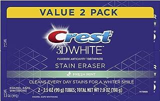Crest 3D White Stain Eraser Whitening Toothpaste, Fresh Mint, 2 Count