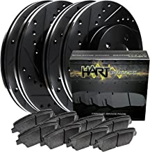 Fit 2010-2015 Chevrolet Camaro Black Hart Full Kit Brake Rotors+Ceramic Pads