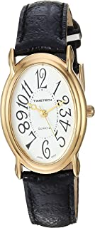 Viva Time Women's 'Timetech' Quartz Metal and Leather Casual Watch, Color:Brown (Model: 2666L)