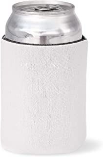 Juvale 24-Pack Blank White Beer Can Insulated Neoprene Sleeve Bottle Covers for DIY Customization