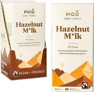 Pico Chocolate, Organic Hazelnut Milk - 10 Pack x 80g Blocks