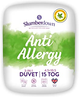 SLUMBERDOWN Anti Allergy Edredón, Microfibra, Blanco, Suelto