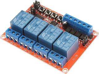 NOYITO 4-Channel Relay Module DC 5V 12V 24V Self-locking Triggering Interlocking High Low Level Trigger for PLC Industrial Control Arduino (12V)