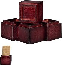 Relaxdays Meubeler hoger 4-delige set, verhoging van 8,5 cm, voor tafels, stoelen en andere meubels, HxBxD 10x11,5x11,5 c...