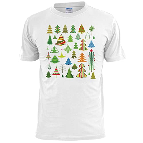 8cd9702651f Ripped Ink Clothing Co Mens Christmas Multiple Xmas Trees T Shirt