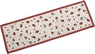 """Villeroy & Boch Toy""""s Delight Gobelin Läufer L, Tischläufer mit weihnachtlichen Ornamenten aus Baumwolle und Polyester, bunt, 32 x 96 cm"""