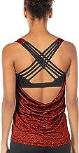 icyzone Sporttops voor dames met geïntegreerde beha - 2-in-1 yoga gym shirt fitness training tanktop