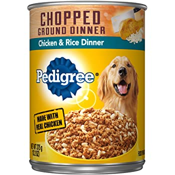 Pedigree Chopped Ground Dinner Wet Dog Food, 13.2 oz. Cans
