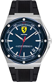 Scuderia Ferrari MEN'S BLUE DIAL BLACK SILICONE WATCH - 830605