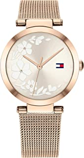 Tommy Hilfiger Womens Analogue Quartz Watch Dressed with Stainless Steel Mesh Band