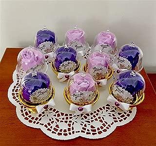 Flowers Rose Soap, 10 pcs Wedding Favors, Party Favors, Handcrafted Soap Gift Box, Purple or Lavander Soap