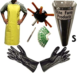 S8 PROCESSING KIT DRILL PLUCKER SMALL KILL CONE 10 BLADE SCALPEL APRON GLOVES CHICKEN POULTRY