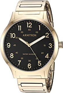 Armitron Men's 20/5310BKGP Easy-Read Expansion Band Watch