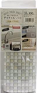 MEIWA 粘贴剥落DECO瓷砖板 马赛克瓷砖 25cm×100cm 白色 DGT-05