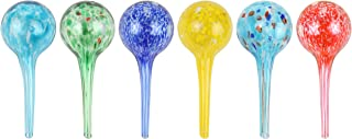 Miles Kimball Set of 6 Small Multicolored Glass Plant Watering Globes - Each Measures 6