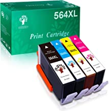 GREENSKY Compatible Ink Cartridges Replacement for HP 564XL for HP DeskJet 3520 3522 OfficeJet 4620 PhotoSmart 5510 5514 5520 6520 6525 7510 7520 7525 C309a C410a C5370 C5380 C6380 Printer, 4 Packs