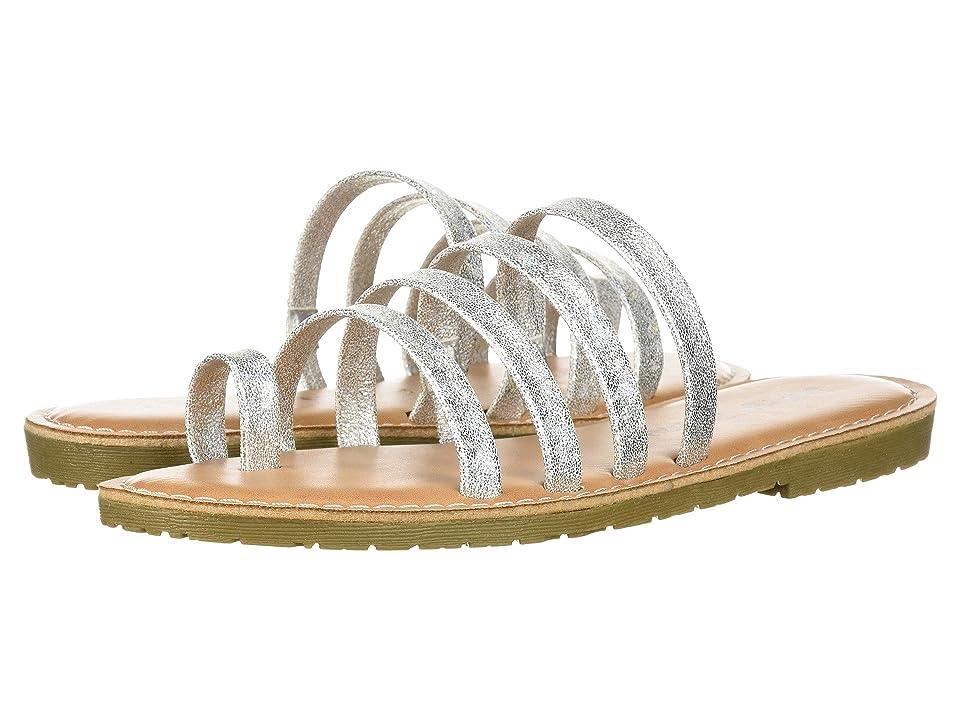 Dirty Laundry Ekia Slide Sandal (Silver Sparkle) Women