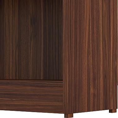 Amazon Brand - Solimo MDF Glanville Bookcase ,Walnut Finish,Set Of 1,Brown
