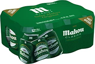 Mahou Clásica Cerveza Dorada Lager, 4.8% de Volumen de Alcohol - Pack de 12 x 33 cl