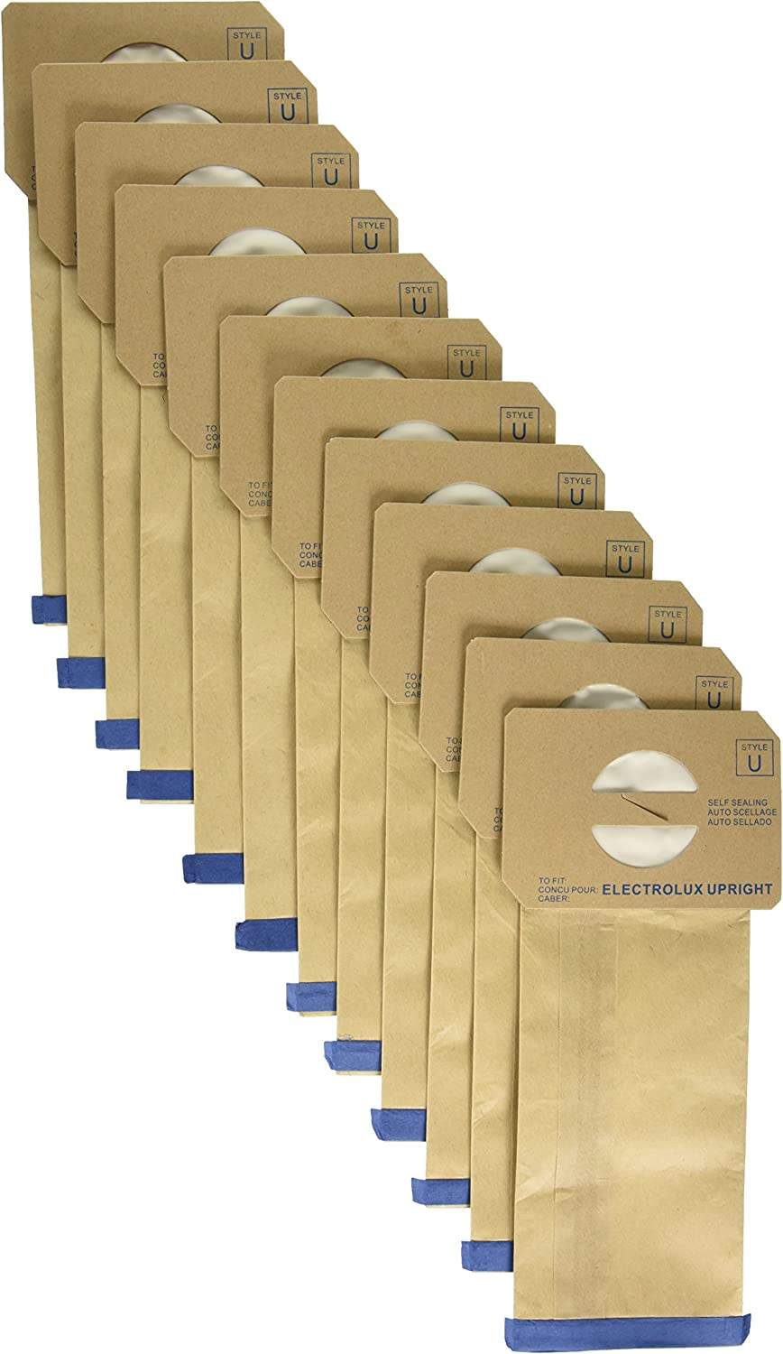 1 X Package of 100 Replacement Aerus / Electrolux Type U Bags - Home And Garden Products