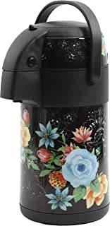 Mr Coffee 2.34 Qt Decorated Pump Pot With Handle, Black/Floral