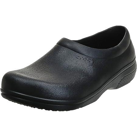 Crocs Unisex-Adult Men's and Women's on The Clock Clog   Slip Resistant Work Shoes