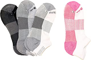 Copper Fit Women's Performance Sport Cushion Low Cut Socks (4 pair) Shoe Size 4-10
