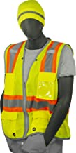 Majestic Glove 75-3225 High Visibility Mesh Vest with D-Ring Pass Thru, X-Large, Yellow