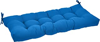 AmazonBasics Tufted Outdoor Patio Bench Cushion- 44 x 18 x 4 Inches, Blue
