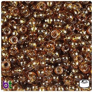 BeadTin Root Beer Transparent 6.5mm Mini Barrel Pony Beads (1000pcs)