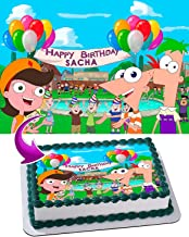 Phineas and Ferb - Edible Cake Topper - 11.7 x 17.5 Inches 1/2 Sheet rectangular (Best Quality Printing)