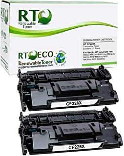 Renewable Toner Compatible Toner Cartridge High Yield Replacement for HP 26X CF226X CF226XD for Laserjet M426 M402 (Black, 2-Pack)