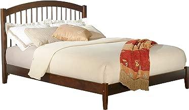 Atlantic Furniture Windsor Platform Bed with Open Foot Board, Full, Walnut