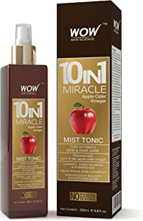 WOW 10 in 1 Miracle Apple Cider Vinegar No Parabens, Sulphate & Silicones Mist Tonic, 200mL